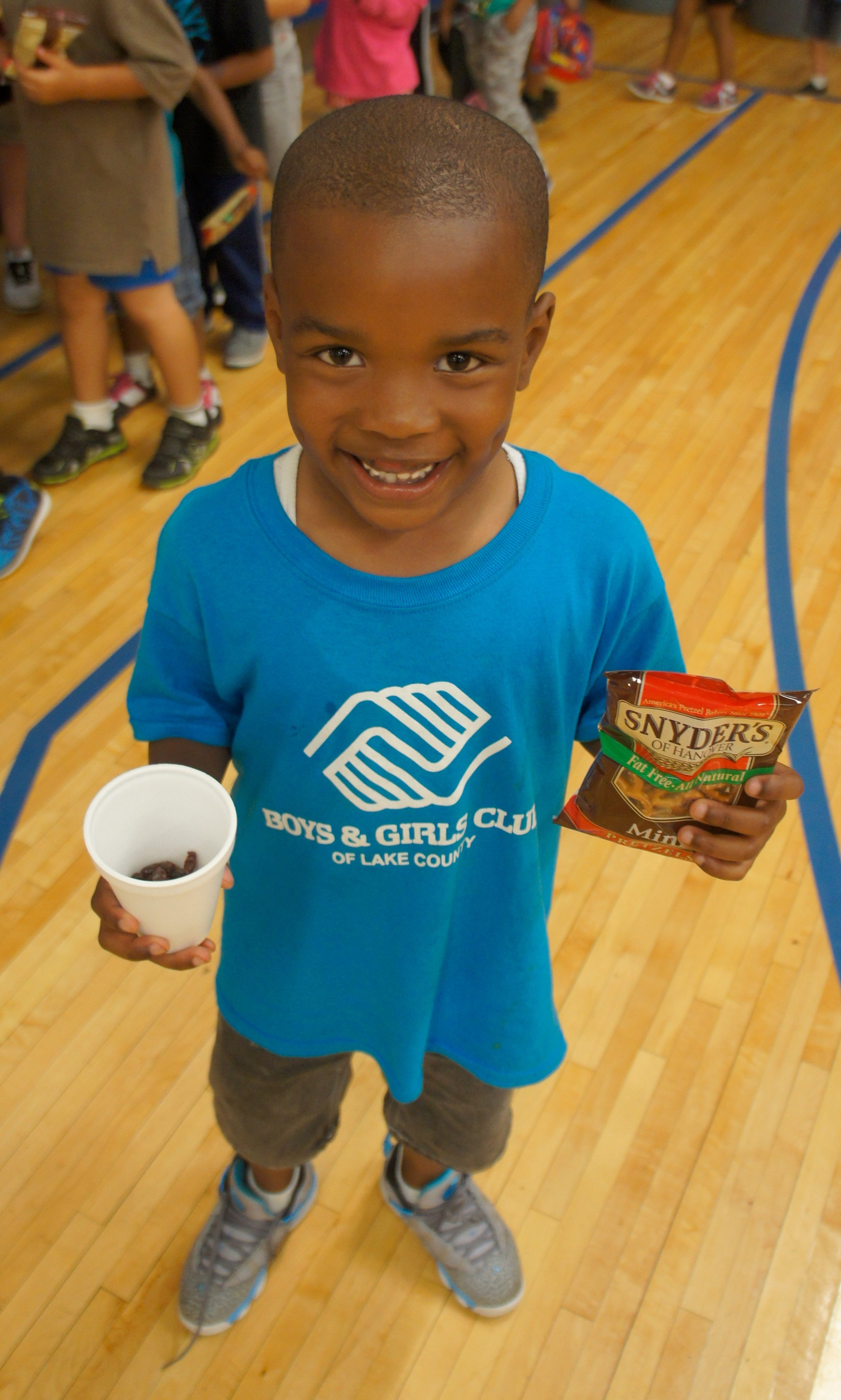 Little Boy at LCCF Food Drive